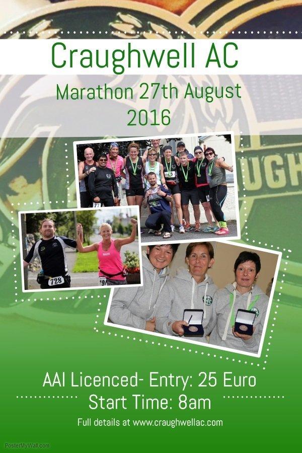 Craughwell AC Marathon Poster 2016